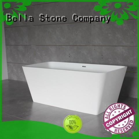 Bella soaking wide freestanding tub from China for villa