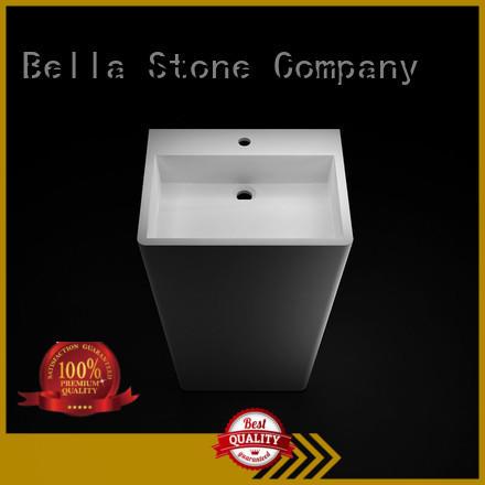BellaStone water pedestal basin supplier for bathroom