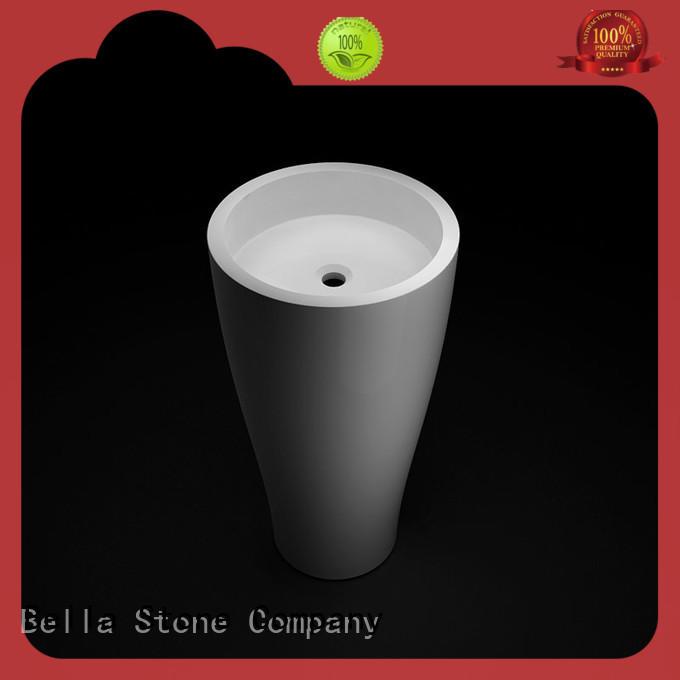 Bella technical compact pedestal basin factory price for bathroom