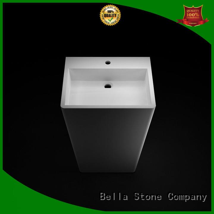 Matte ResinStone Onyx pedestal basin sink Bella Brand