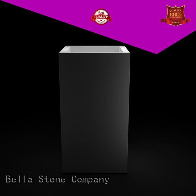 Bella Brand Calcutta Chrome pedestal basin sink Onyx