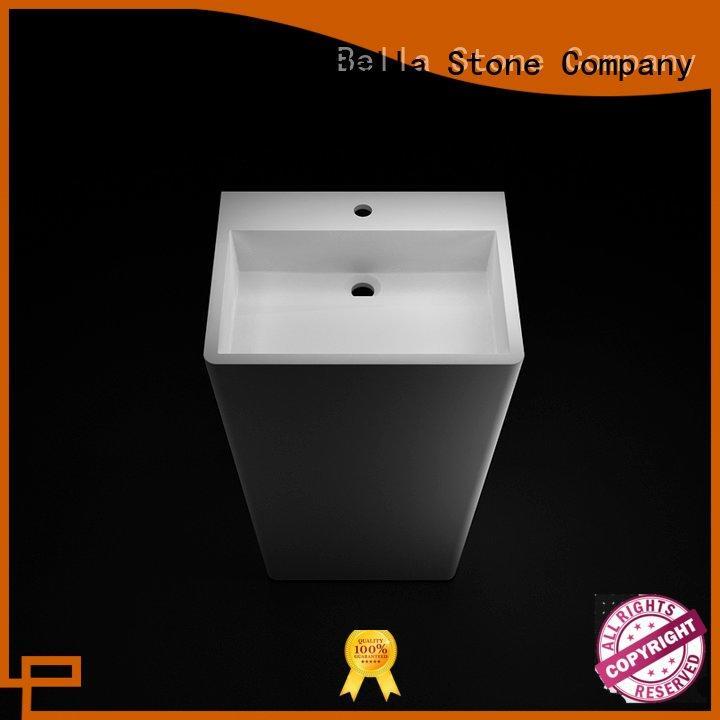 pedestal wash basin Matte basin and pedestal Bella