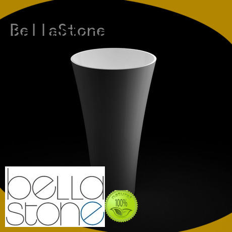 BellaStone bsl6 bathroom pedestal basins factory price for hotel