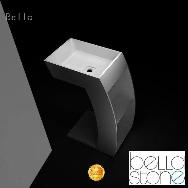 ResinStone freestanding Bella pedestal wash basin