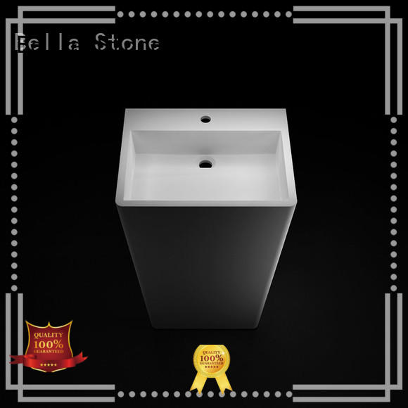 BellaStone bsl7 pedestal basin supplier for garden