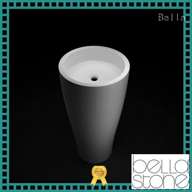 Bella good quality modern pedestal basin bsl7 for bathroom