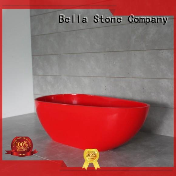 resin pure deep freestanding tub solidsurface Bella