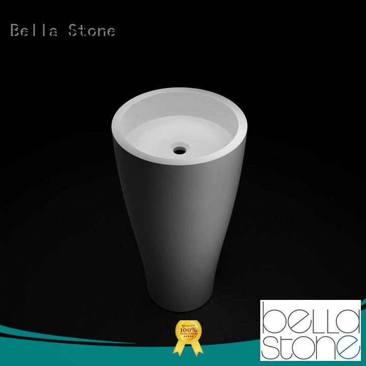 Bella white pedestal basin factory price for bathroom