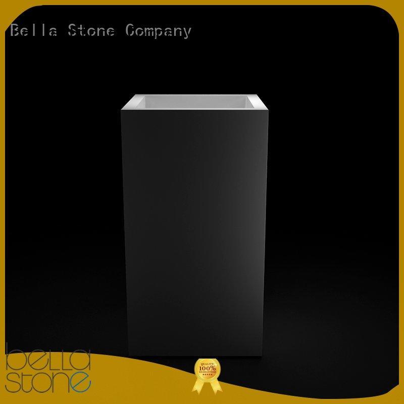 BellaStone bsl1 modern pedestal basin promotion for hotel