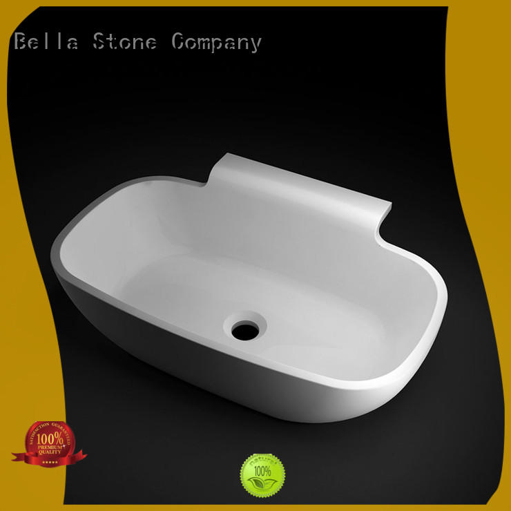 BellaStone simple bathroom pedestal basins on sale for hotel