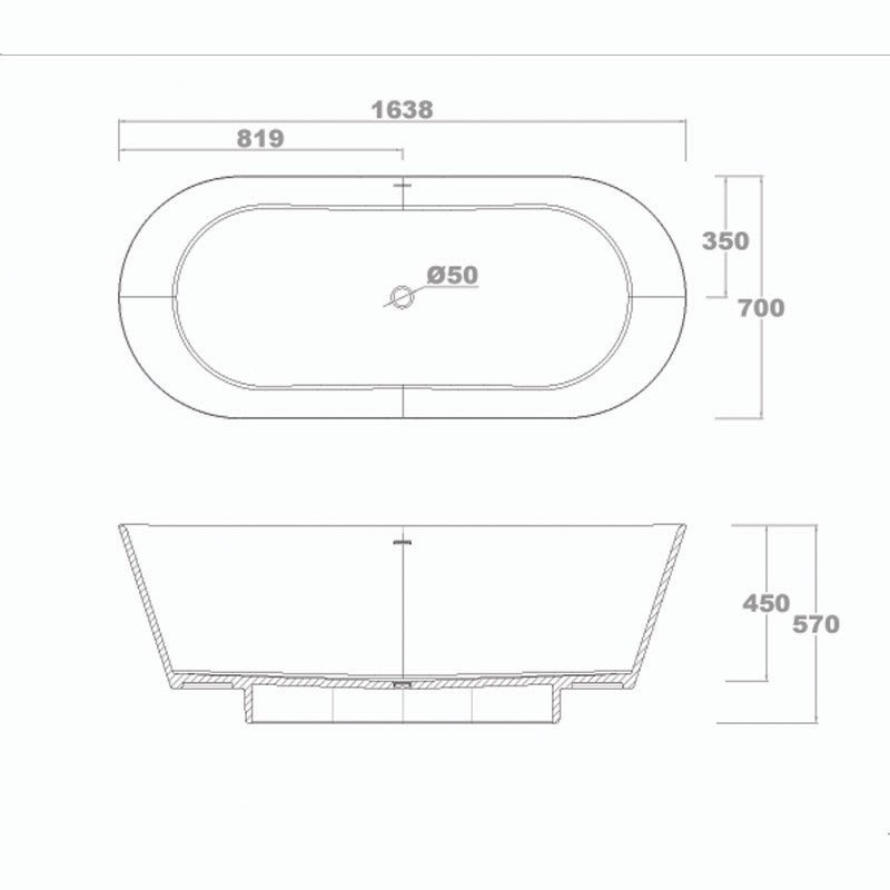 Bella Designer Bathtub Glide by Davide Tonizzo 1640 Free-standing Bathtubs image9