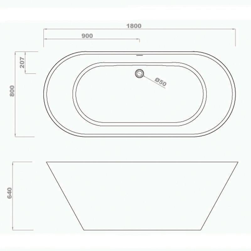 Cast Stone Tub BS-S15 1800