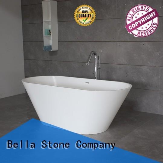 Hot pure deep freestanding tub artificialstone lightweight Bella Brand