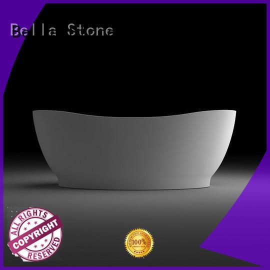 pure capital lightweight deep freestanding tub artificialstone Bella