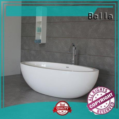 acrylic solid deep freestanding tub Bella