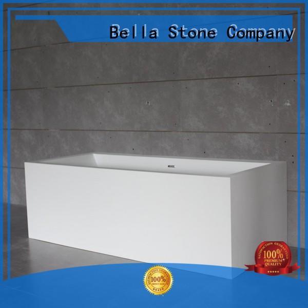 60 freestanding bathtub modified artificialstone solidsurface Bella Brand