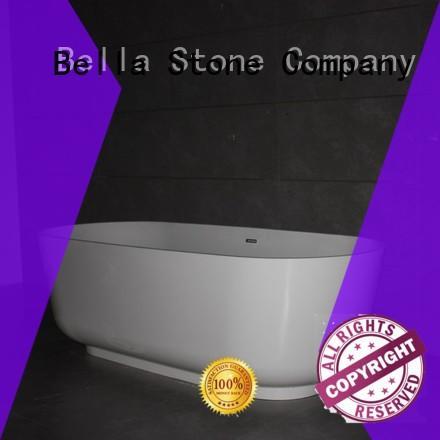 resin modified Bella Brand 60 freestanding bathtub