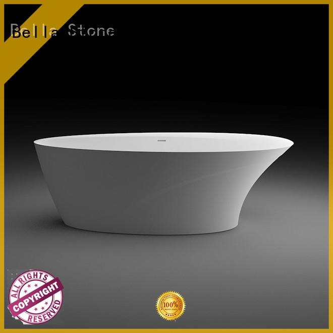 Bella Brand resin artificialstone lightweight deep freestanding tub manufacture