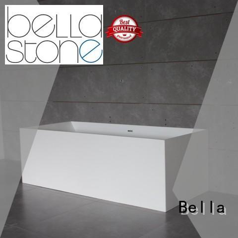 resin solidsurface freestanding deep freestanding tub modified Bella Brand